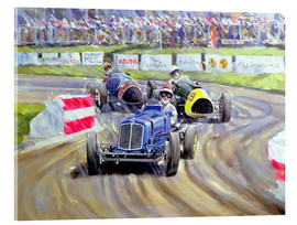 Tableau en verre acrylique  The First Race at the Goodwood Revival, 1998 - Clive Metcalfe