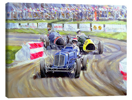 Tableau sur toile  The First Race at the Goodwood Revival, 1998 - Clive Metcalfe