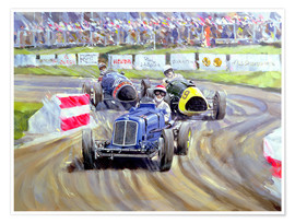 Poster  The First Race at the Goodwood Revival, 1998 - Clive Metcalfe