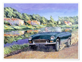 Clive Metcalfe - MGB by a French Canal