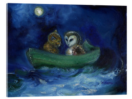 Verre acrylique  The Owl and the Pussycat - Nancy Moniz