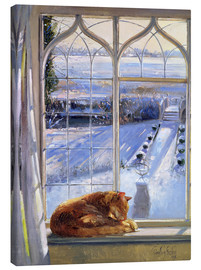 Tableau sur toile  Cat in the Window - Timothy Easton
