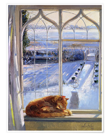 Poster  Cat in the Window - Timothy Easton