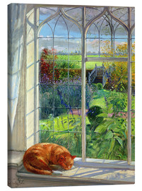 Toile  Cat in the Window, Summer - Timothy Easton