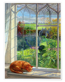 Poster  Cat in the Window, Summer - Timothy Easton