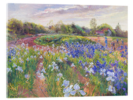 Tableau en verre acrylique  Field of flowers - Timothy Easton