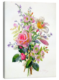 Toile  A Pink Bouquet - Albert Williams