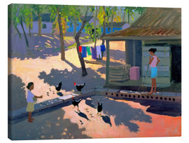 Tableau sur toile  Hens and Chickens, Cuba, 1997 - Andrew Macara