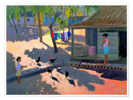 Poster  Hens and Chickens, Cuba, 1997 - Andrew Macara