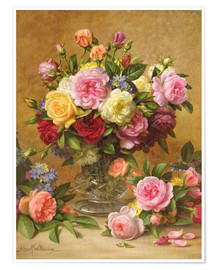Poster  Roses victoriennes - Albert Williams