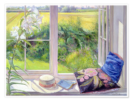 Poster  Reading window seat - Timothy Easton