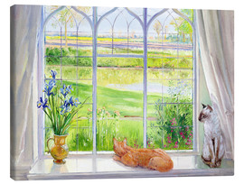 Toile  Cats at the window - Timothy Easton