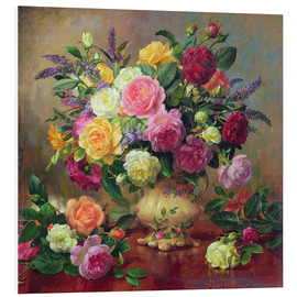 Tableau en PVC  Roses d'un jardin victorien - Albert Williams
