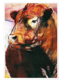 Poster portrait of a bull