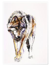 Poster  European Wolf - Mark Adlington