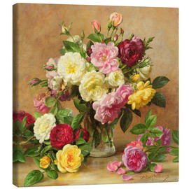 Toile  Old Fashioned Victorian Roses - Albert Williams