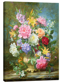 Tableau sur toile  Peonies and mixed flowers - Albert Williams