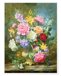 Albert Williams - Peonies and mixed flowers