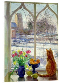 Verre acrylique  Snow Shadows and Cat - Timothy Easton