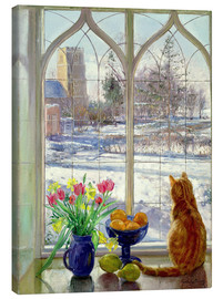 Toile  Snow Shadows and Cat - Timothy Easton