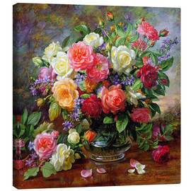 Toile  Roses - The Perfection of Summer - Albert Williams