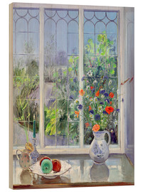Tableau en bois  Still life in the window - Timothy Easton