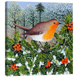 Tableau sur toile  Robin on the Beer Branch - Pat Scott