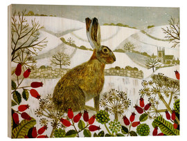 Bois  Seated Hare in Snow - Vanessa Bowman