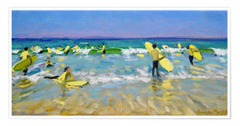 Poster  Surf School at St. Ives - Andrew Macara