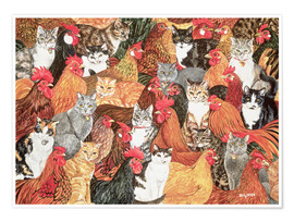 Poster Chicken-Cats