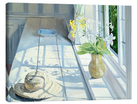 Tableau sur toile  Still life in front of the window - Timothy Easton