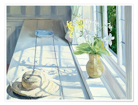 Poster  Still life in front of the window - Timothy Easton