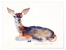Poster  Biche couchée - Mark Adlington
