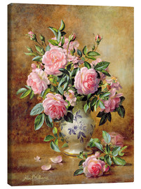 Toile  A Medley of Pink Roses - Albert Williams
