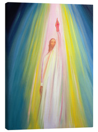 Toile  Jesus Christ points us to God the Father, 1995 - Elizabeth Wang