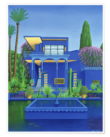 Poster  Majorelle Gardens, Marrakech - Larry Smart
