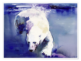 Poster  Polar bear underwater - Mark Adlington