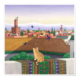 Poster  Toits de Marrakech - Larry Smart