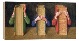 Tableau en bois  Three Wise Books, 2005 - Jonathan Wolstenholme