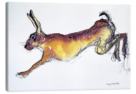 Toile  Jumping Hare - Lucy Willis
