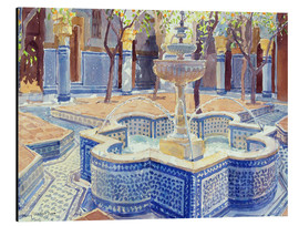 Alu-Dibond  The blue fountain - Lucy Willis