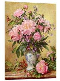 Tableau en PVC  Vase de pivoines et cloches de Canterbury - Albert Williams