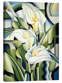 Toile  Cubist lilies - Catherine Abel