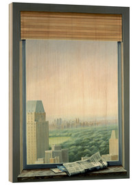Tableau en bois  New York Central Park - Lincoln Seligman