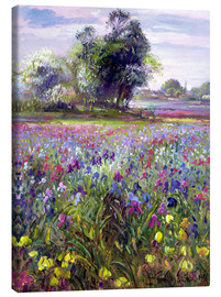 Toile  Flower field with tree - Timothy Easton