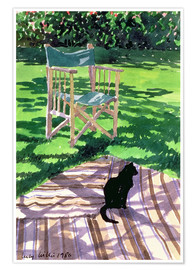 Poster Black Cat and Dappling