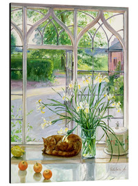 Tableau en aluminium  Chat dormant à la fenêtre - Timothy Easton