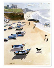 Poster  Boats on the Beach - Lucy Willis