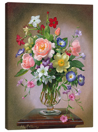 Tableau sur toile  Roses, Peonies and Freesias - Albert Williams