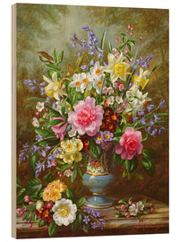 Bois  Bluebells, daffodils, primroses and peonies - Albert Williams